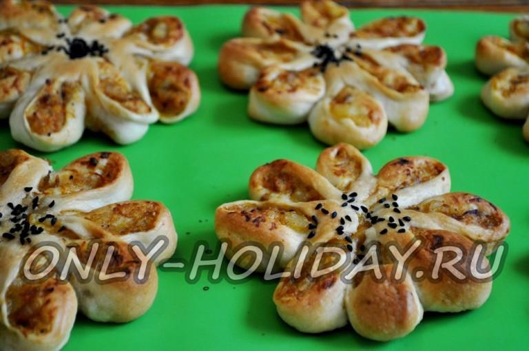 Постные пирожки духовке рецепт фото