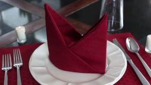 Как красиво сложить бумажные салфетки на праздничный стол: схемы