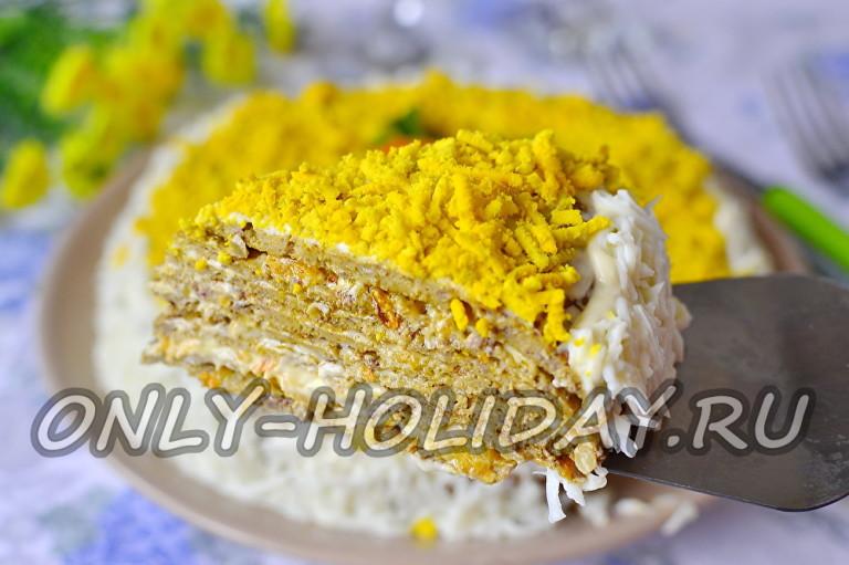 Печеночный торт рецепт из куриной печени с сыром