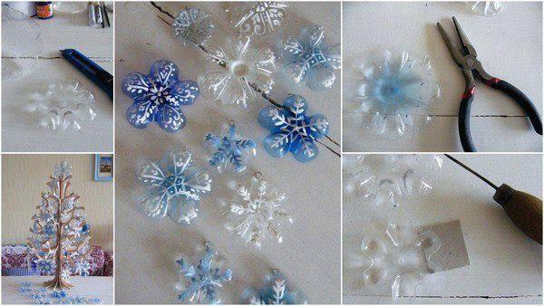 Снежинки своими руками из подручных материалов