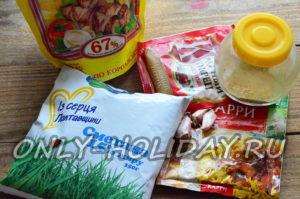 Ингредиенты для приготовления соуса для шаурмы