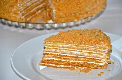 """Торт """"Медовик"""": классический рецепт с фото пошагово"""