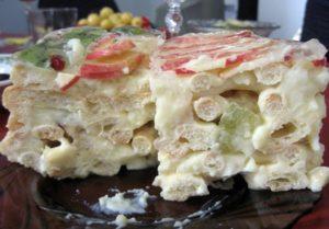 Торт «Тропиканка» с заварным тестом
