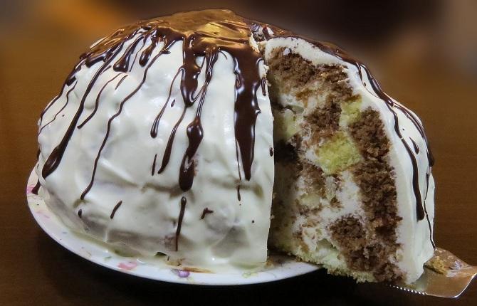 торт панчо на кефире с ананасами пошаговый рецепт с фото