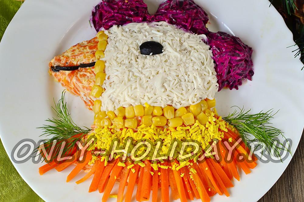 Салаты на новый год 2017 пошагово с рецепты с