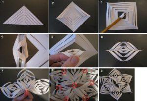 Cнежинки из бумаги: шаблоны для вырезания