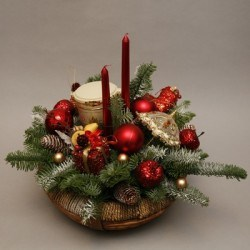 новогоднняя композиция на стол