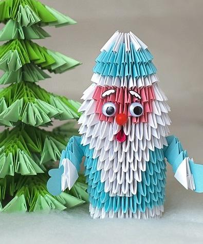 Новогодние поделки своими руками оригами из бумаги