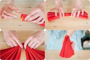 Помпоны из бумаги своими руками размеры фото 718