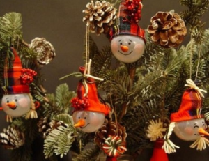 Игрушки из лампочек на Новый год своими руками пошагово