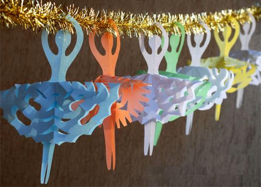 Новогодние гирлянды из бумаги своими руками, схемы и шаблоны