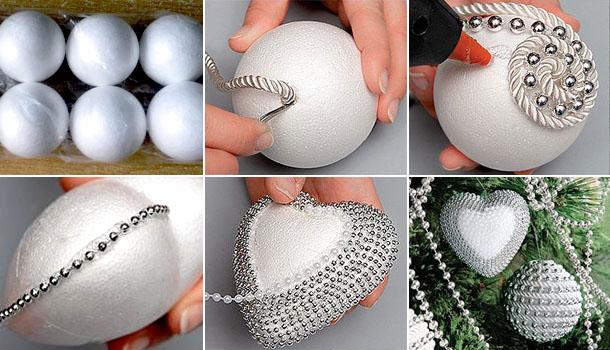 Как сделать новогодний шар своими руками из ниток