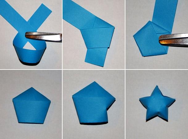 оригами из бумаги на новый год