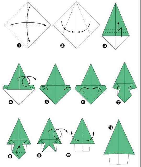 Поделки на елку из бумаги схемы