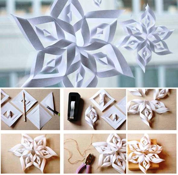 Сделать из бумаги украшения для нового года