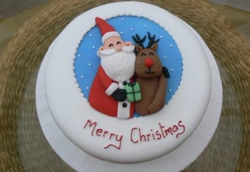торт с мастикой на Новый год