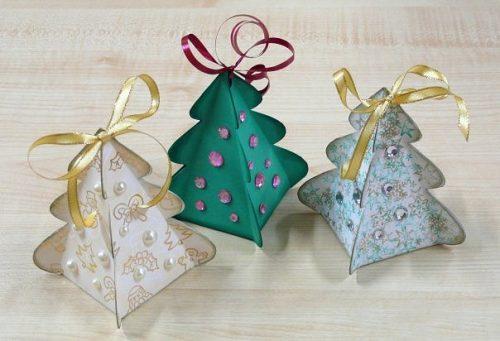 Шаблоны новогодних коробочек для подарков своими руками