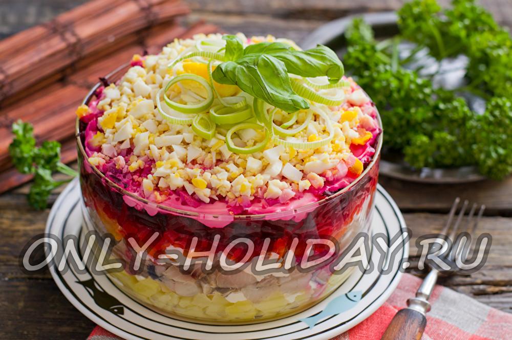 салат сельдь под шубой